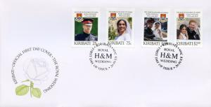 Kiribati 2018 FDC Prince Harry & Meghan Royal Wedding 4v Cover Royalty Stamps