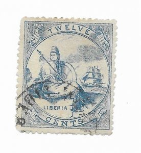 Liberia #14 Forgery Used - Stamp