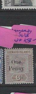 LEEWARD ISLANDS  (PP2501B) QV 1D/6D  SG 18   MNH
