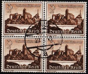 Germany. 1939 3pf+2pf(Block of 4)  S.G.718 Fine Used