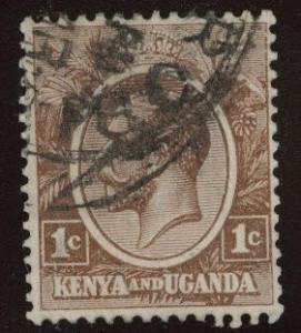 Kenya Uganda and Tanganyika KUT Scott 18 Used CV $3.50