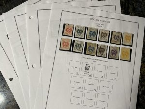 Central Lithuania 47 Stamps Mostly MH with HR