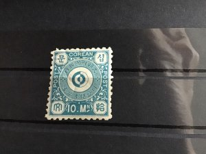 Korea Empire 1894 10m blue mounted mint Stamp R22995
