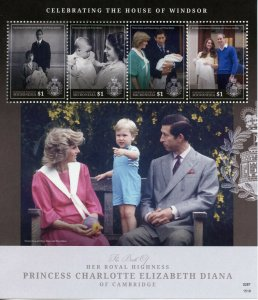 Micronesia Royalty Stamps 2015 MNH Princess Charlotte Birth Royal Baby 4v M/S