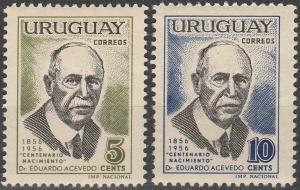 Uruguay #630-1   MNH F-VF (V899)