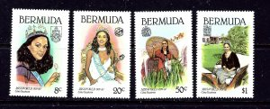 Bermuda MNH 397-400 Gina Swanson Miss World 1980