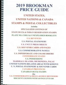 2019 Brookman Price Guide U.S. U.N. Canada Stamps Catalog Spiral Bound 352p