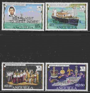 Anguilla #297-300 F-VF Mint NH ** Royal Visit to the West Indies