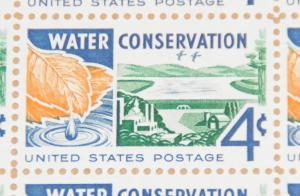 1960 sheet Water Conservation Issue, Sc# 1150