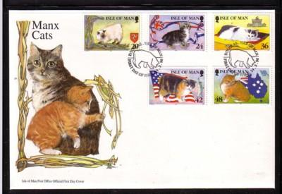 Isle of Man Sc 672-6 1996 Cat stamp set FDC