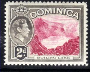 Dominica 1938 - 47 KGV1 2d Boiling Lake MM SG 102 ( F1222 )