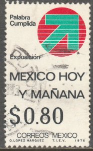 MEXICO 1148 Mexico today and tomorrow Exhibition USED. F-VF. (1346)