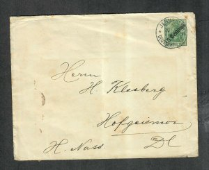 German Postal History Cover Jerusalem German Offices In Turkish Empire Sc#55