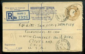 Great Britain George VI 1946 Registered Letter To U.S.