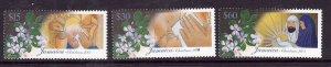 Jamaica-Sc#980-2-Unused NH set-Christmas-Flowers-2003-