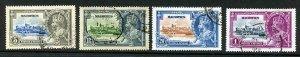 Mauritius SG245/48 1935 Silver Jubilee Set Used