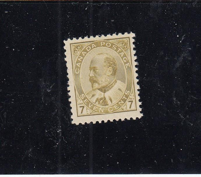 CANADA # 92 FVF-MLH KEV11 7cts OLIVE BISTRE CAT VALUE $160