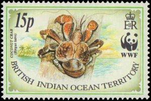 1993 British Indian Ocean Territory #132-135, Complete Set(4), Never Hinged