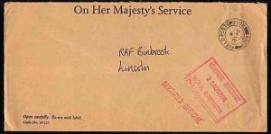 GB BRITISH FORCES IN GERMANY 1978 cover FPO 746 RAF Bruggen