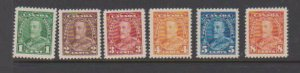 CANADA  #217-22 (6) STAMPS MLH  LOT#80