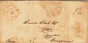 1840, SFL: Lancaster to Columbia, PA (29574)