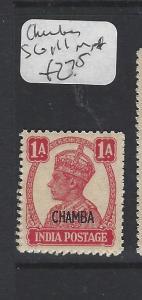 INDIA  CHAMBA  P1306B)  KGVI 1A  SG 111   MNH