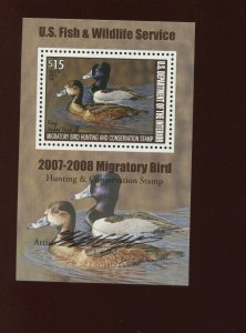 RW74b Federal Duck Mint Mini Duck Stamp Souvenir Sheet NH (RW74 A10)