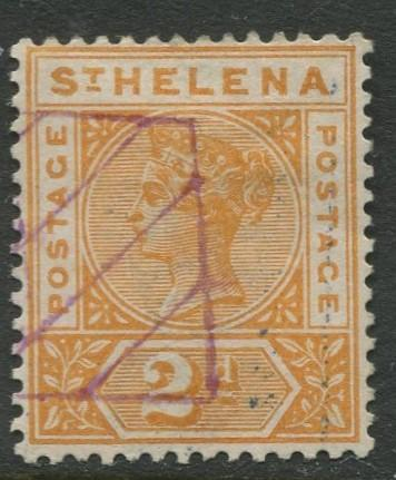 St.Helena - Scott 43 - QV Definitive -1896 - VFU - Single 2p Stamp