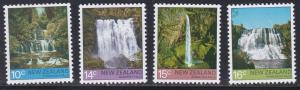 New Zealand # 604-607, Waterfalls, NH, 1/2 Cat.