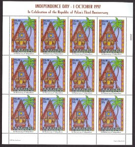 PALAU 1997 INDEPENDENCE Anniversary Issue in Miniature Sheet Sc 435 x12 MNH
