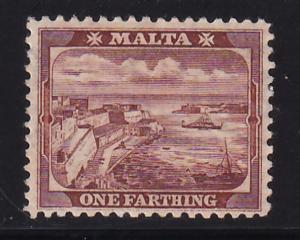 MALTA 1/4d 1901 Sc. # 19a MHH (566-8)