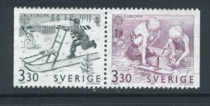 Sweden 1737 - 8 Used Attached Pair (9