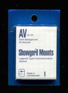 Showgard Black Stamp Mounts AV 31/41 PreCut  (40 count)