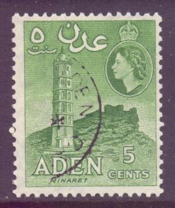 Aden Scott 48 - SG48, 1954 Elizabeth II 5c used