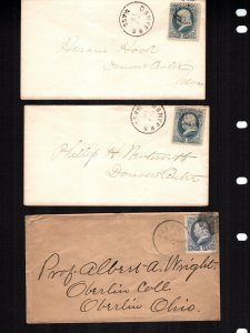 United States  156  used  3 diff covers fancy cancels