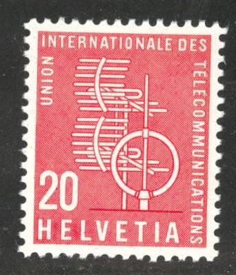 Switzerland Scott 10o3 MH* ITU stamp