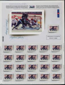 Canada PP9 sheet MNH Winnipeg Jets - First Goal