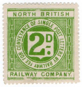 (I.B) North British Railway : Letter Stamp 2d