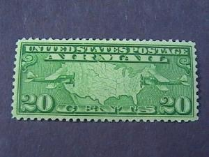 U.S. # C9--MINT NEVER/HINGED---- AIR-MAIL----YELLOW-GREEN-----1927