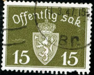 NORWAY #O36, USED - 1945 - NORWAY066NS13