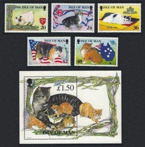 Isle of Man Manx Cats 5v+MS SG#678-MS683 SC#677