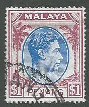 Malaya-Penang  Scott 20  Used