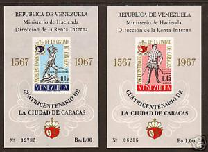 Venezuela Mi Bl 14,15 MNG. 1967 Caracas S/S cplt., VF