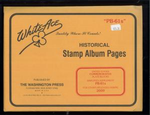 2009 White Ace U.S Commemorative Issue Plate Block Stamp Supplement Pages PB-61s
