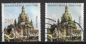 Germany used  - 2016    -   George Bähr -   both variants