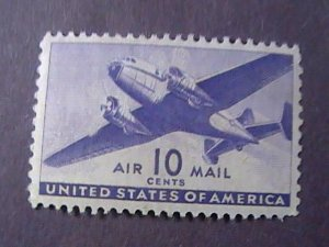 U.S. # C27--MINT NEVER/HINGED----AIR-MAIL----SINGLE----VIOLET--1941