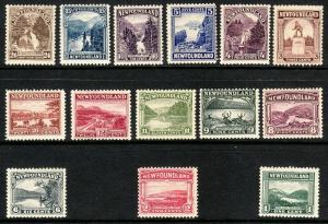 1923 - 1924 Newfoundland Canada complete MH set of fourteen (14) Sc# 131 / 144