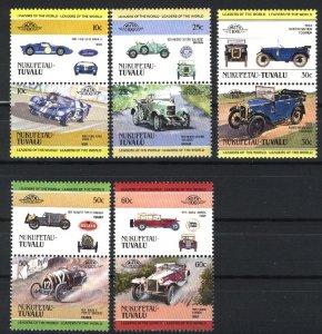 Tuvalu - Nukulaelau 3,6,7,8,10   Pairs   Mint NH VF 1984-85 PD
