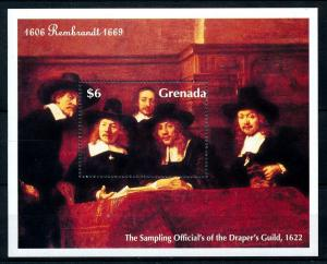 [100168] Grenada 1993 Art Painting Rembrandt De staalmeesters Sheet MNH