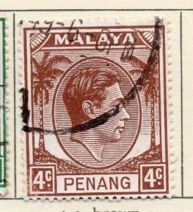 Malaya Penang 1949-52 Early Issue Fine Used 4c. 029251